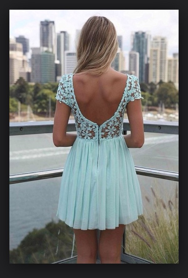 cute blue lace dress