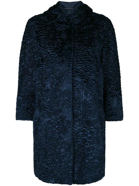 'S Max Mara coat women cotton blue