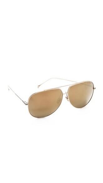 sunglasses aviator sunglasses gold white