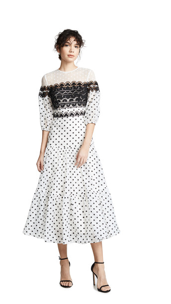 Temperley London Prix Midi Dress in white