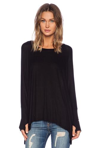 draped black top