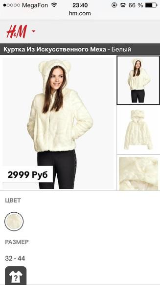 fur fur coat h&m