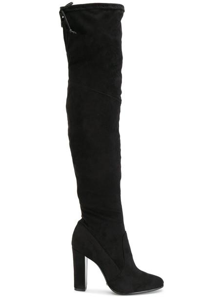 Schutz women over the knee black shoes