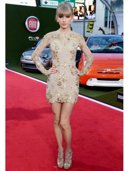 dress taylor swift gold dress gold sequin dress