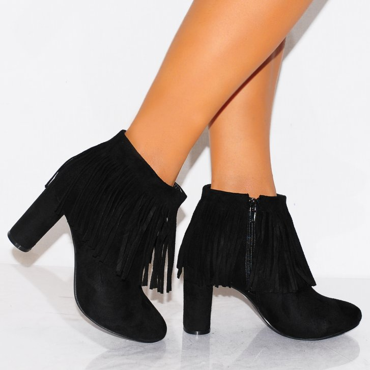 Couture Ladies Kd5 Black Fringe Ankle Boots - Koi Couture from ...