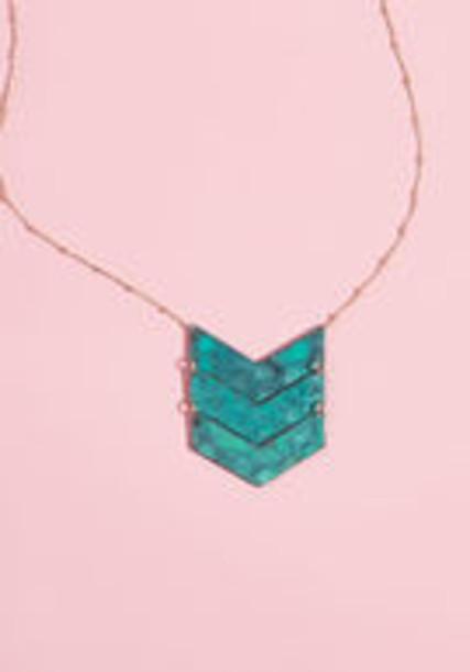 Modcloth necklace pendant chevron jewels