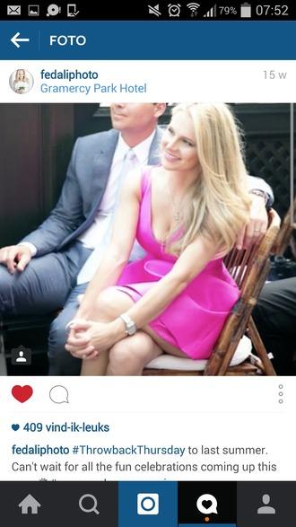 dress pink summer dress
