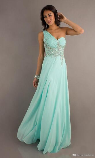 dress 2014 prom dresses crystals prom dress chiffon prom drees tiffany sparkle dress aqua formal