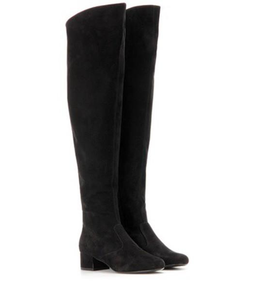 Saint Laurent boots suede black shoes