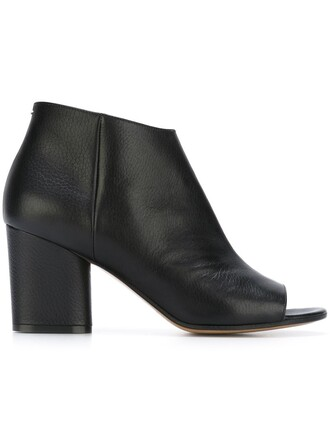 open boots ankle boots black shoes