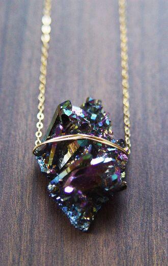jewels fashion titanium necklace druzy necklace