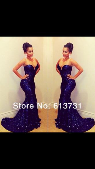 dress mermaid prom dress sequin dress sequin prom dress sparkly dress blue dress sweetheart neckline sweetheart dresses