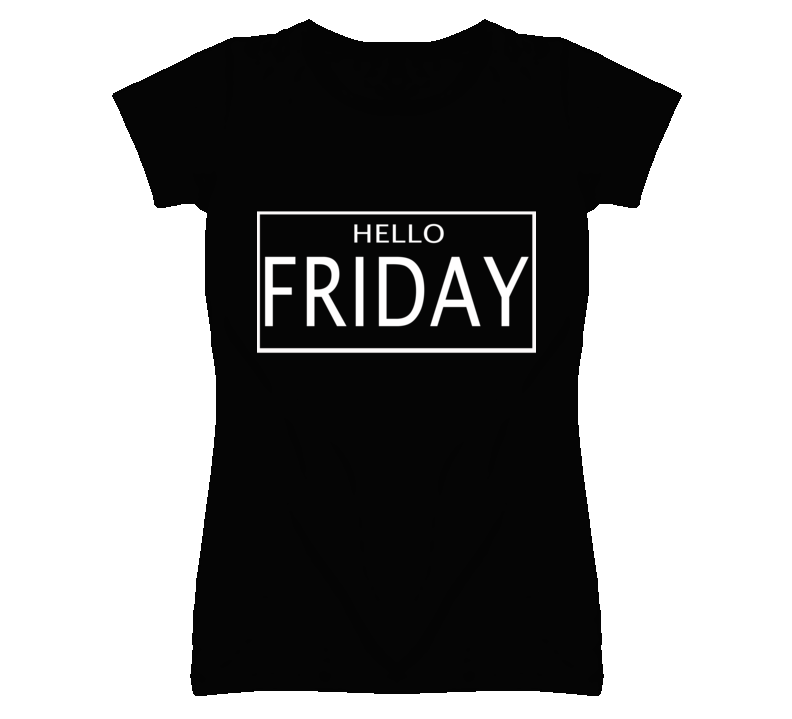 Hello Friday Weekend Fun Popular Graphic T Shirt