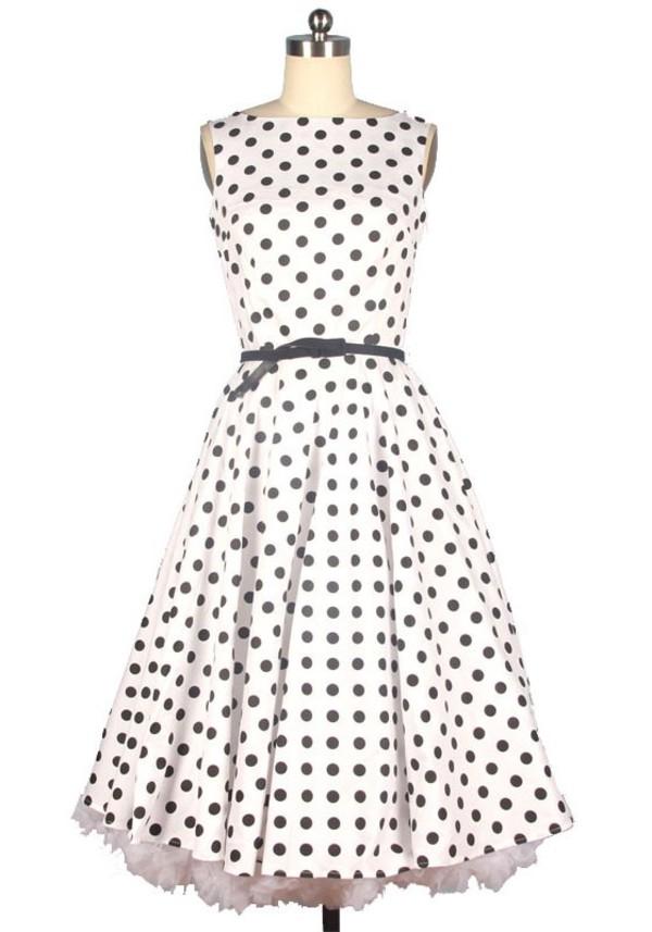 50s style fashion dress street 50s dress cute dress vintage dress retro dress white dress 50s style fashion dress streetstyle polka dots polka dots dress