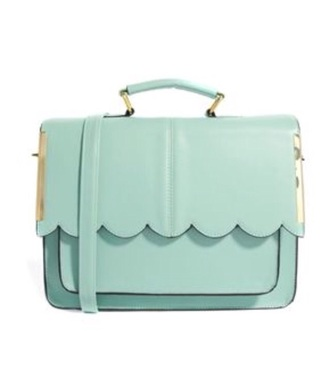 bag cute handbag accessories mint pastel rounded edgy messenger pretty pastel bag