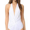 Karla colletto plunge back one piece swimsuit - white