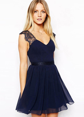 dress,blue dress,Grease,bodycon slip dress,halter neck,halter dress,sexy,sexy dress,blue,navy,lace dress,dark blue,homecoming dress,plunge neckline,sleeveless,skater dress,open back,navy dress,open back dresses,navy blue short dress,sexy backless,graceful,delicate lace,lace,beautiful halo,cute dress,fashion,trendy,cute,summer,summer dress,dark blue dress,party dress,All navy blue outfit
