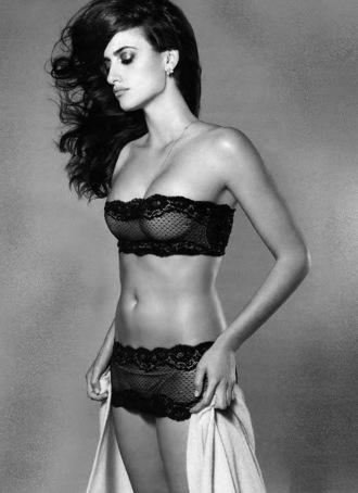 underwear lace black lace lingerie sexy hot transparent penelope cruz