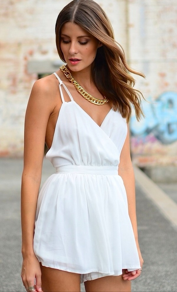 shorts white jumpsuit