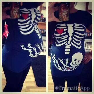 skeleton top black top