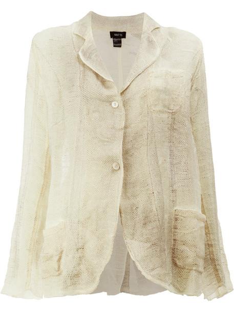 AVANT TOI blazer women soft nude cotton jacket