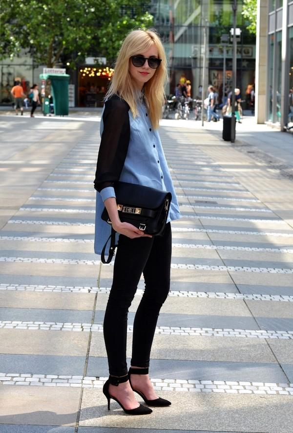 vogue haus blouse jeans shoes bag sunglasses