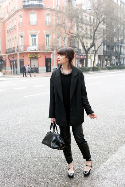 che cosa blogger blazer black pants
