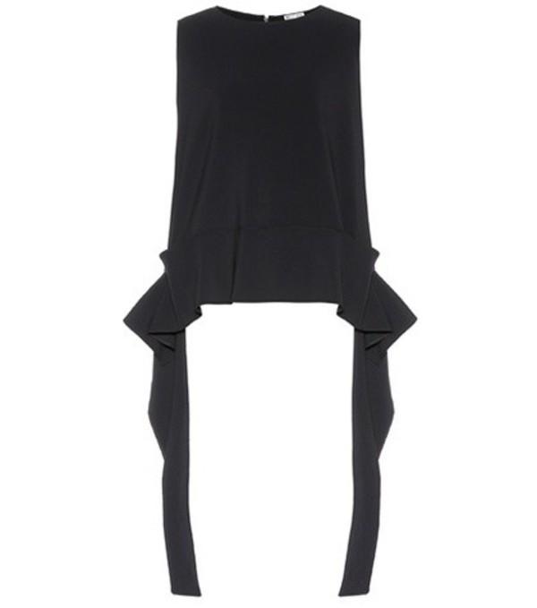 Maticevski Player crêpe top in black