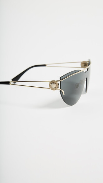 sunglasses pale gold grey
