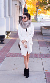 hello fashion,jacket,dress,scarf,shoes,sunglasses,bag,fur scarf