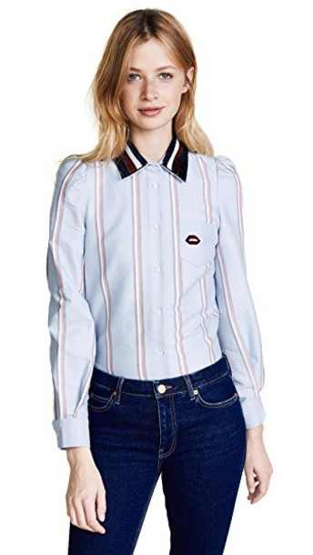 Hilfiger Collection shirt blue top