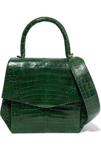 crocodile forest green forest green bag