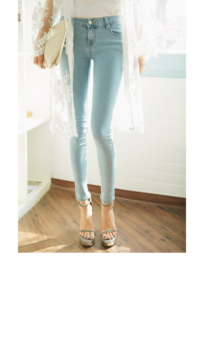 Clean Fit Light Blue Skinny Jeans