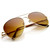 Large Premium Metal Aviator Sunglasses With Spring Temples 1377