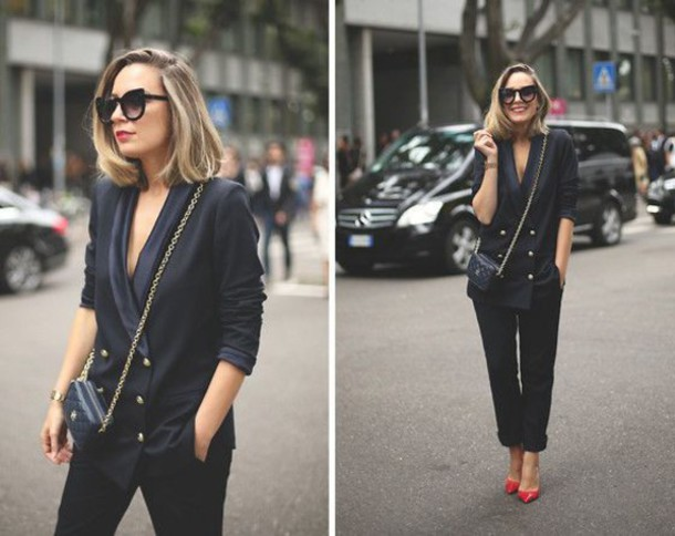 Jacket: double breasted, boyfriend blazer, blazer, chiq, sexy ...