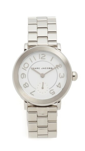 watch silver white jewels