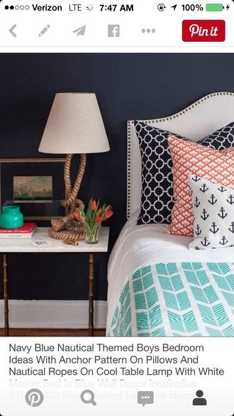 home accessory nautical pillow anchor print sailor
