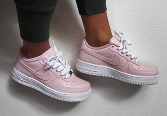 shoes nike nike shoes light pink nike air force 1