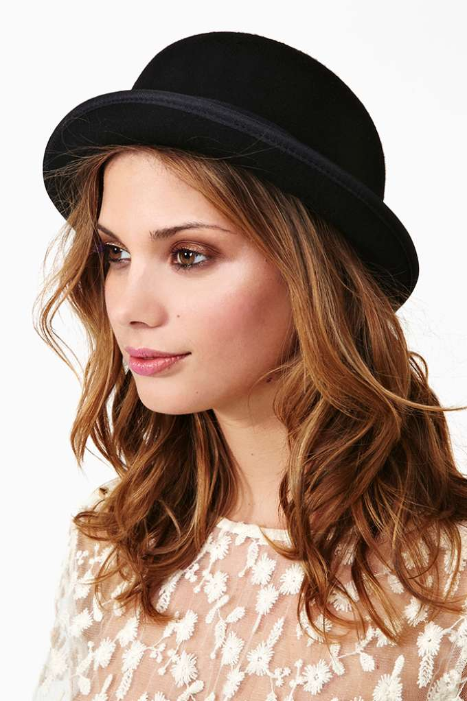 Alex Bowler Hat  in  Accessories at Nasty Gal