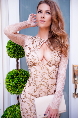 dress sexy lace dress party dress birthday dress nude lace dress nude dress holt miami fashion fashion vibe fashion and style