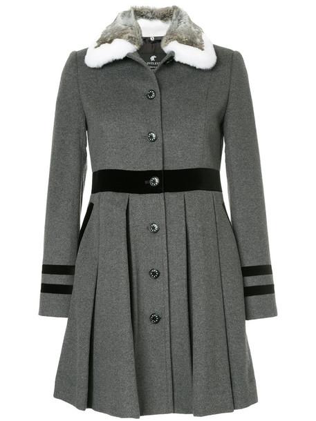 Loveless coat pleated women wool grey