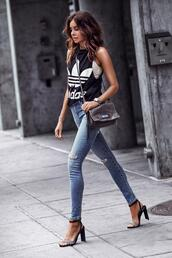 fashionedchic,blogger,tank top,shoes,bag
