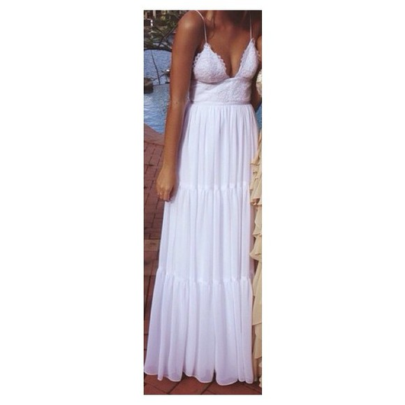 dress formal maxi dress bohemian dress white dress