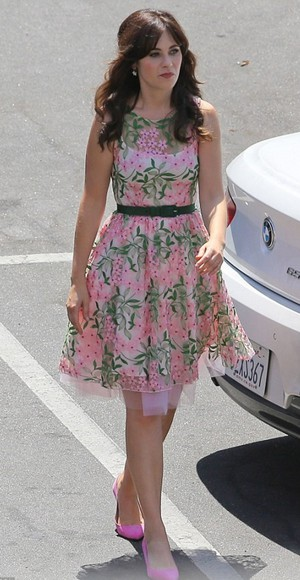 zooey deschanel dress floral dress