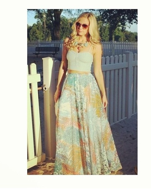 skirt maxi skirt crop tops