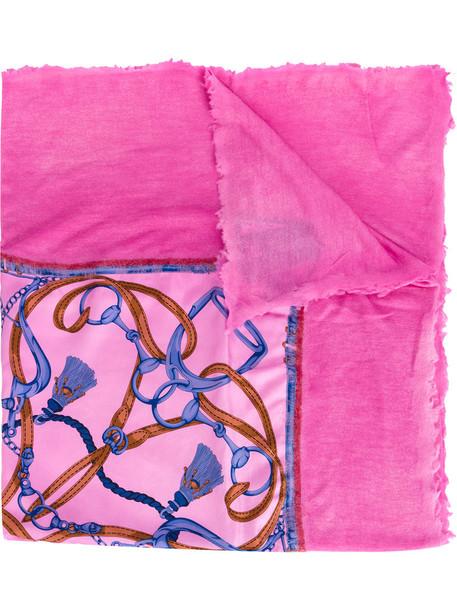 printed scarf women scarf silk purple pink
