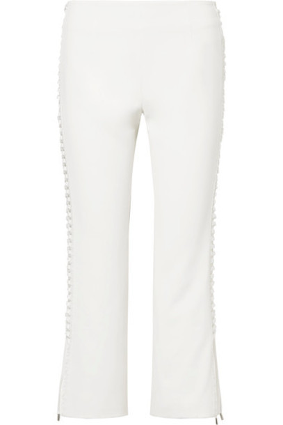 pants cropped lace