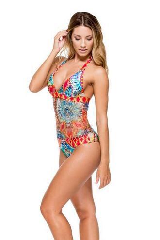 top halter top luli fama one piece print bikiniluxe