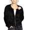 Evie fluffy knit bomber jacket