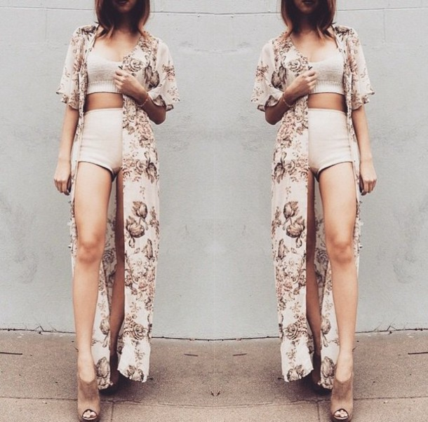 jumpsuit beige shorts crop tops cardigan 2piece set